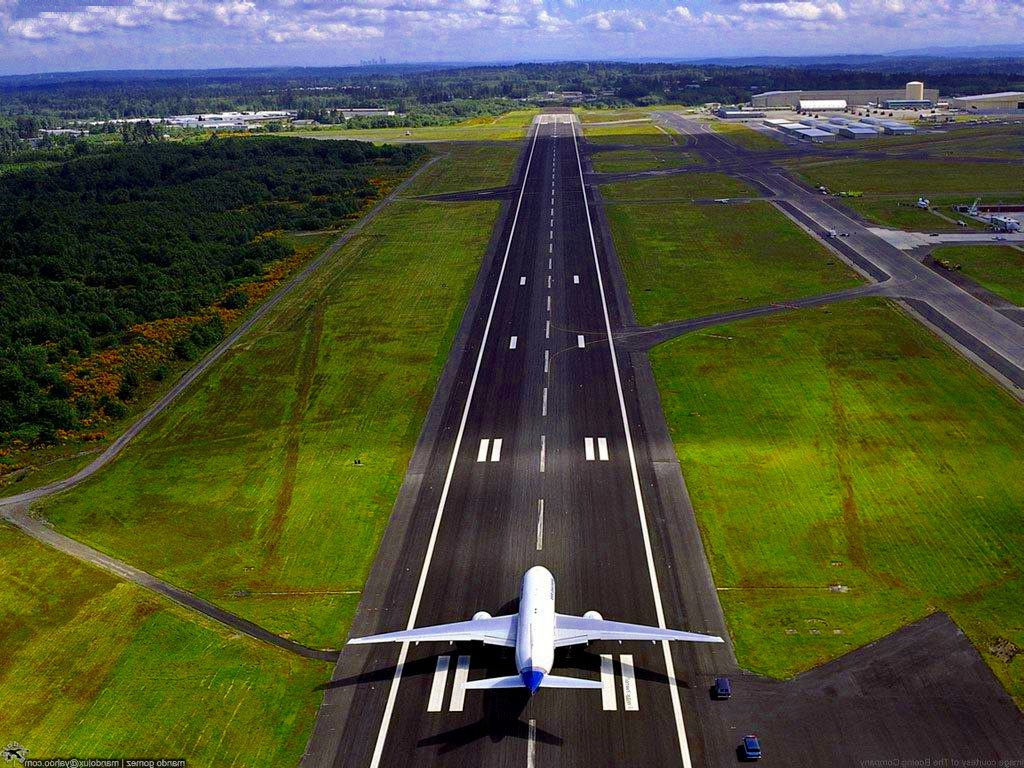 airplane on runway